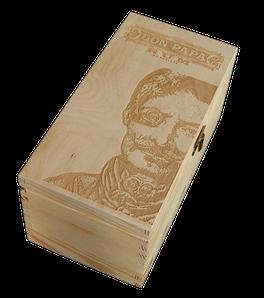 Box Don Papa zvisle - naturál gravír